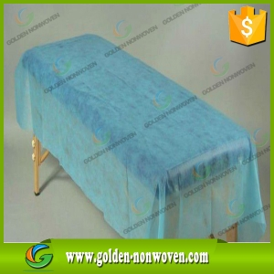SMS PP Spunbond Non woven For Disposable Bed Sheet made by Quanzhou Golden Nonwoven Co.,ltd