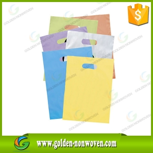 80gsm D-Cut Non Woven Bag With Silk Printing made by Quanzhou Golden Nonwoven Co.,ltd