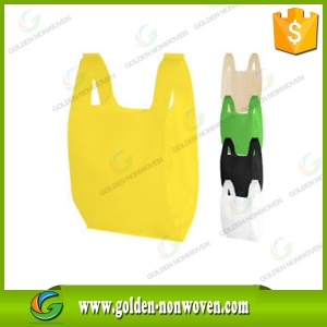 Nonwoven T-Shirt Shopping Bag With Print Logo made by Quanzhou Golden Nonwoven Co.,ltd