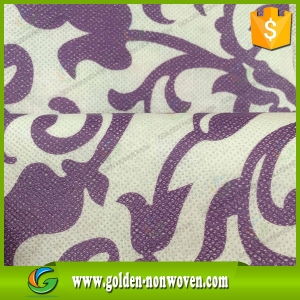 Custom Design Printed PP 100% Spunbond Nonwoven Fabric For Bag made by Quanzhou Golden Nonwoven Co.,ltd