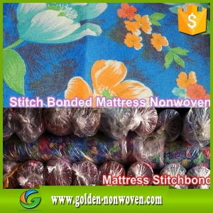 spun bond non woven/print stitch bonding nonwoven fabric/Printed Stitchbond Mattress Fabric