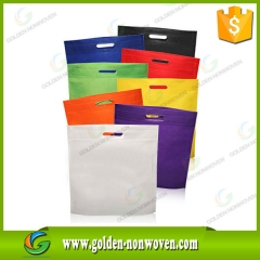 D-cut Non Woven Carry Tote Bags