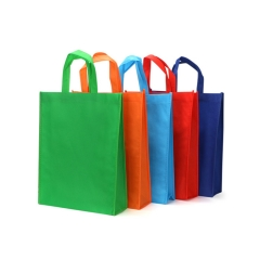 100% biodegradable pla no tejido tote bag tnt shopper bag hecho por Quanzhou Golden Nonwoven Co.,ltd